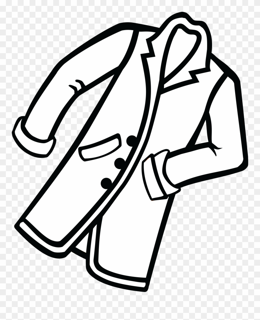 Clipart of coat graphic library stock Clipart Of Coat, Black Coat And Closet - Line Art - Png Download ... graphic library stock