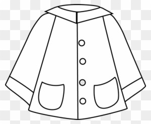 Black and white clipart coat vector stock Download Free png Coat Clipart Black And White Raincoat Clipart ... vector stock