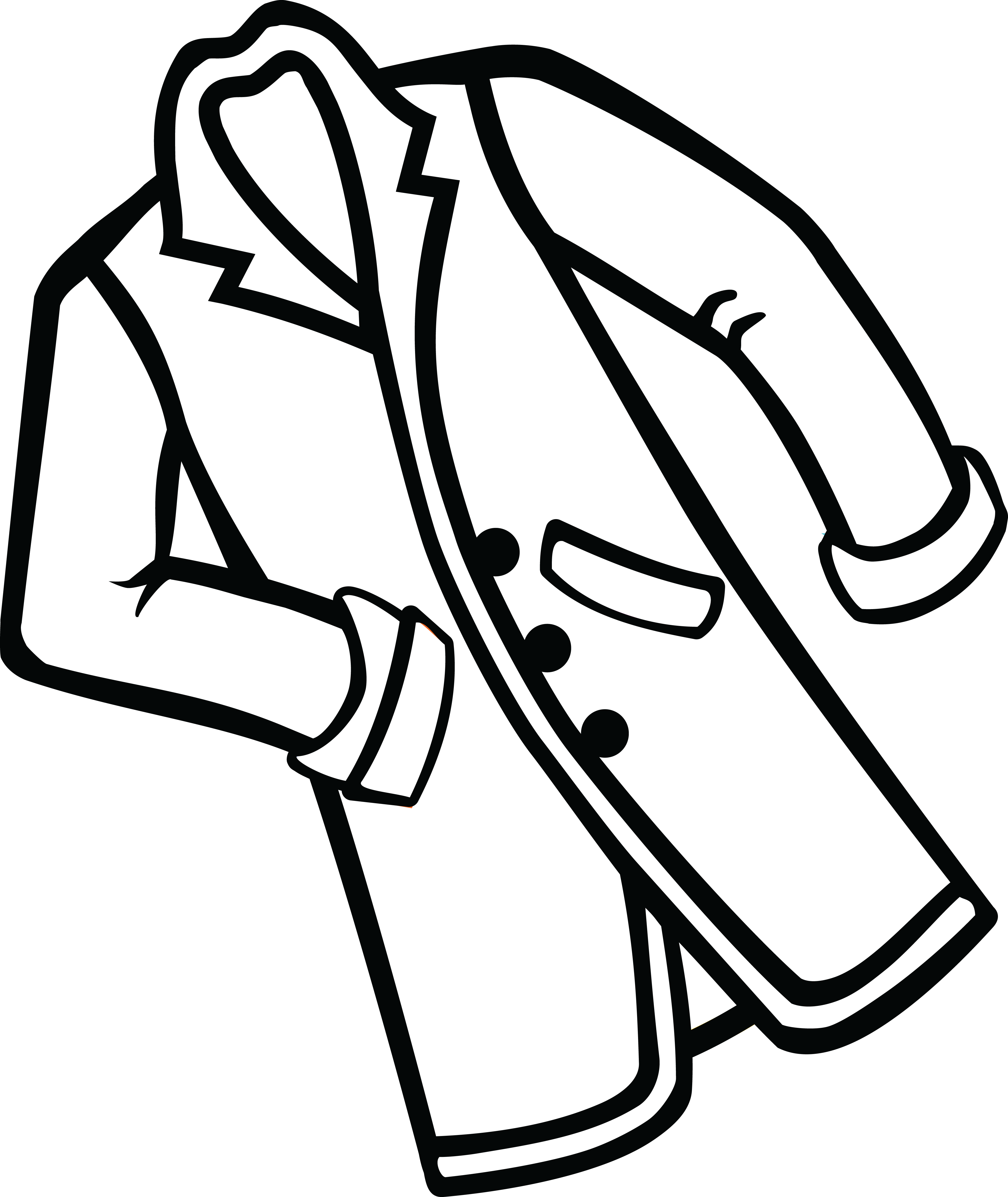 Black and white clipart coat