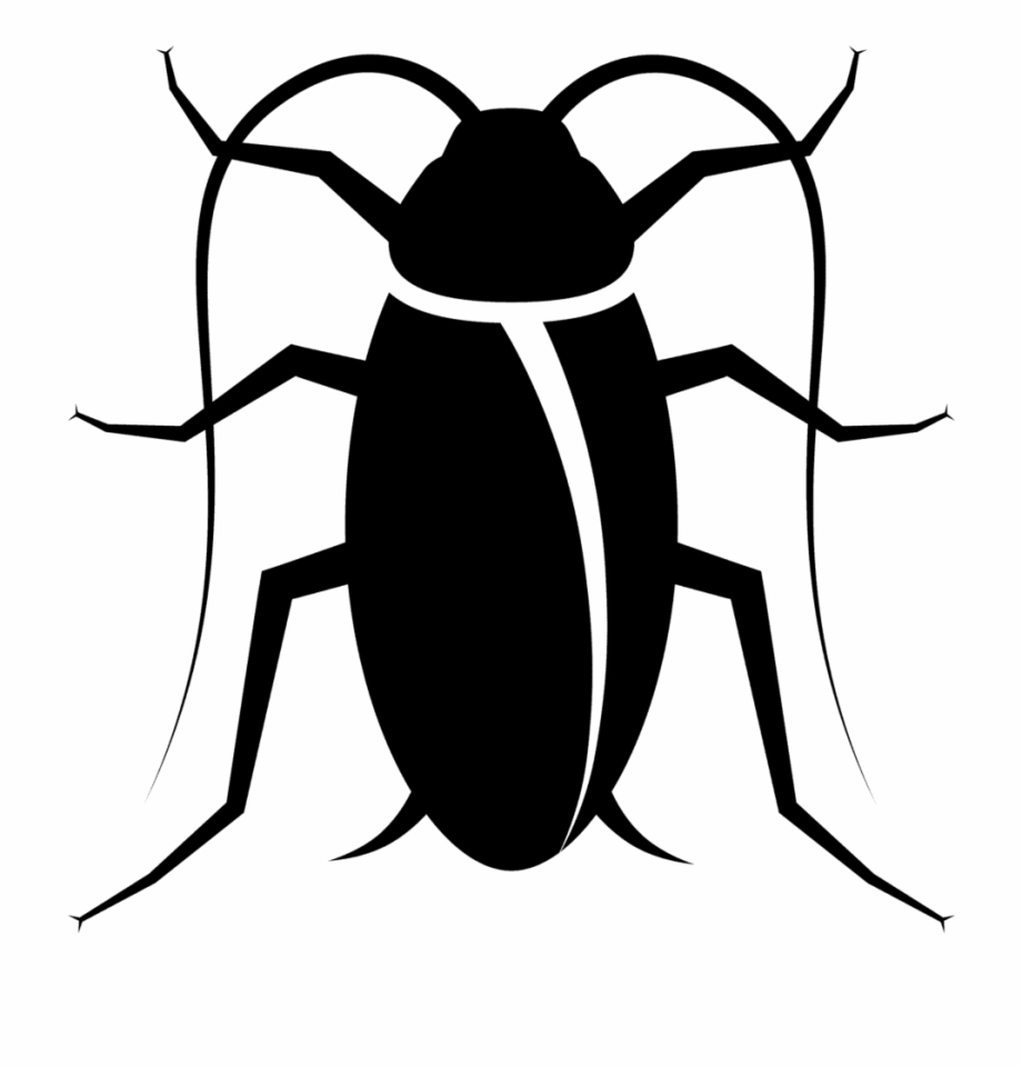 Black and white clipart cockroaches