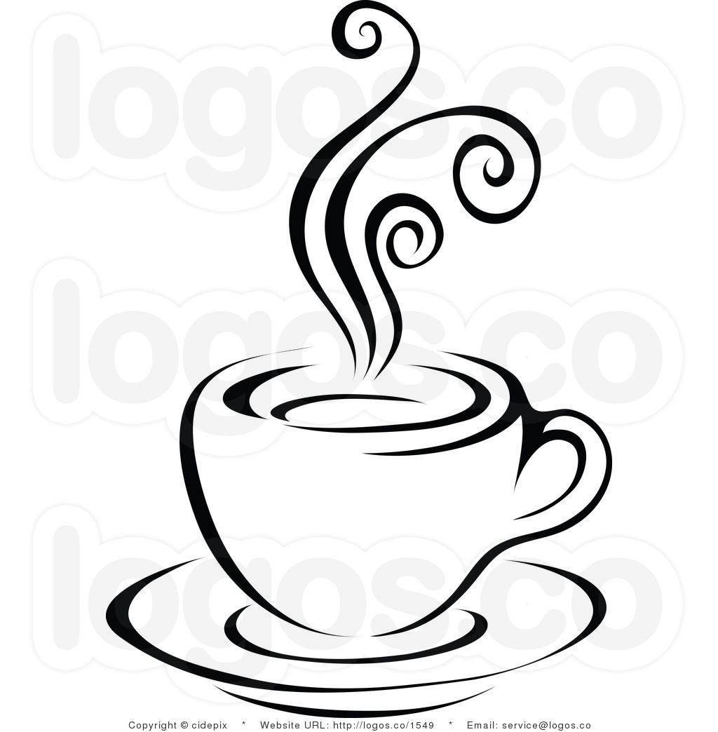 Coffee to go cup clipart black and white