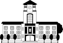 Black and white clipart college picture royalty free library Black White School Or College Building Big Clipart » Clipart Portal picture royalty free library