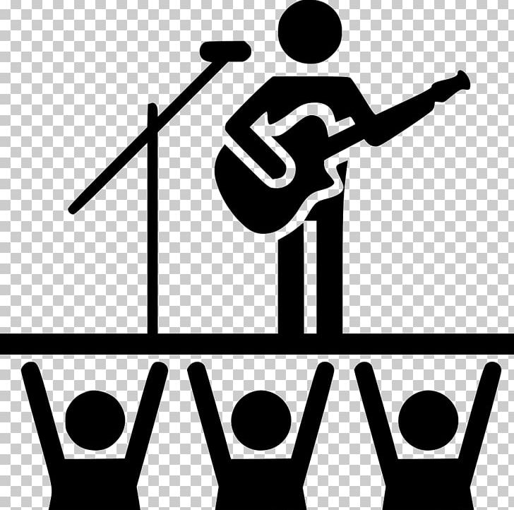 Computer Icons Concert PNG, Clipart, Area, Artwork, Black And White ... jpg free library