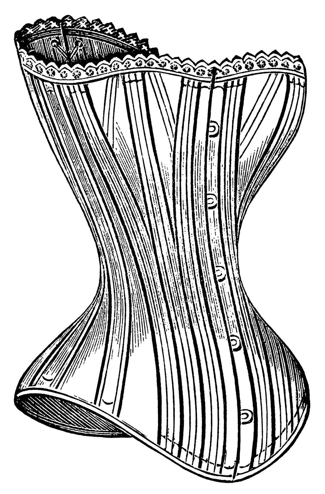 Black and white clipart corset svg free download Victorian Corsets Clip Art - Old Design Shop Blog svg free download