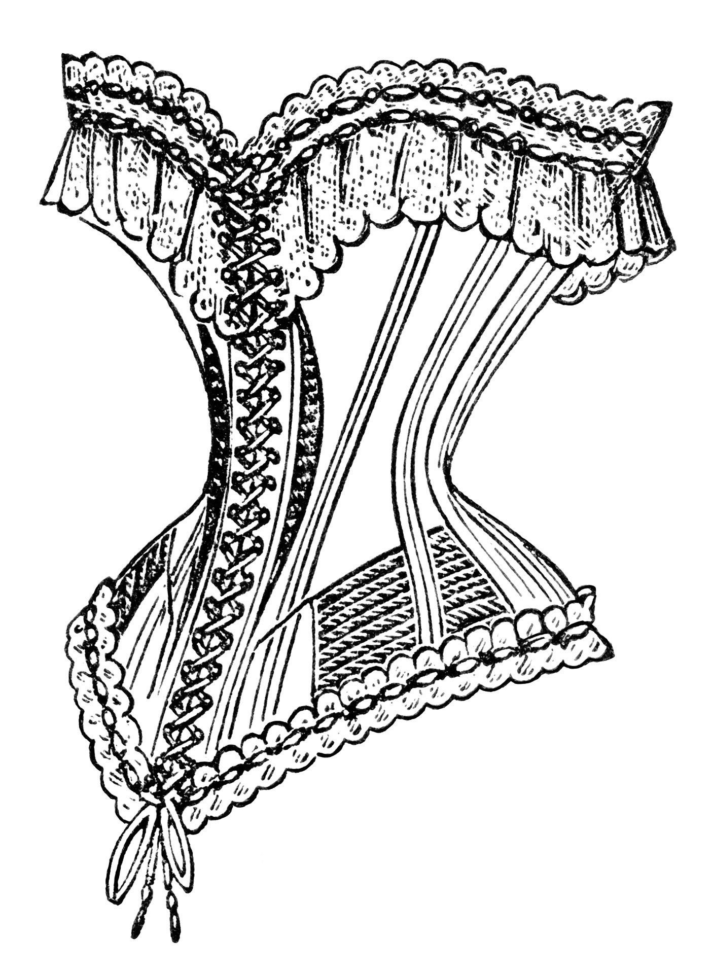 Black and white clipart corset jpg stock Free Vintage Image ~ French Corset Clip Art | Corsets | Vintage ... jpg stock
