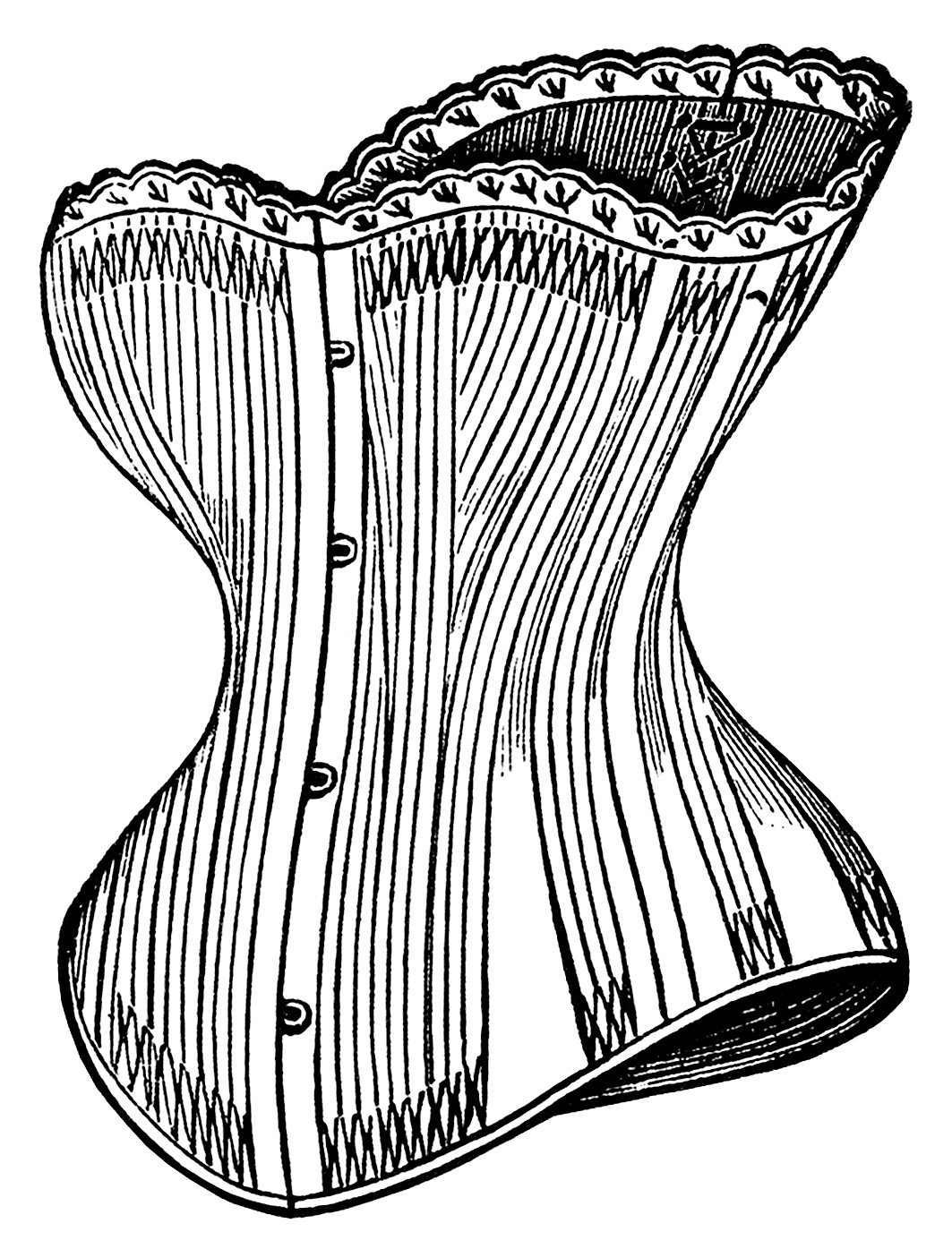 Black and white clipart corset jpg free stock Victorian Corsets Clip Art - Old Design Shop Blog jpg free stock