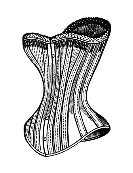 Black and white clipart corset image royalty free library black and white clip art, free steampunk graphics, victorian corset ... image royalty free library