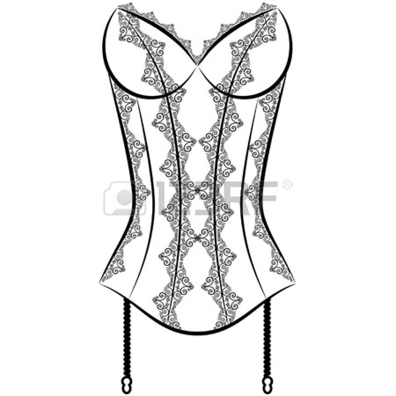 Black and white clipart corset picture Corset Clipart | Free download best Corset Clipart on ClipArtMag.com picture