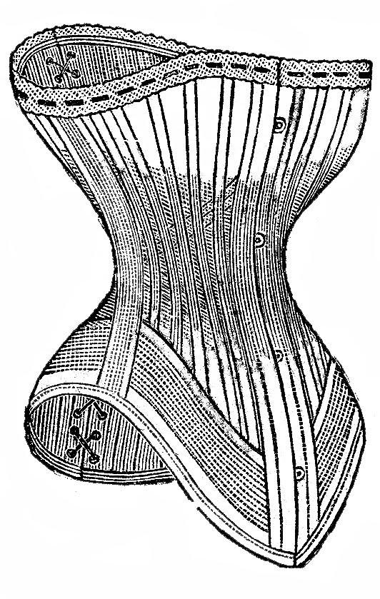 Black and white clipart corset clip transparent Vintage Clip Art - Victorian Corset - Black and White - The Graphics ... clip transparent