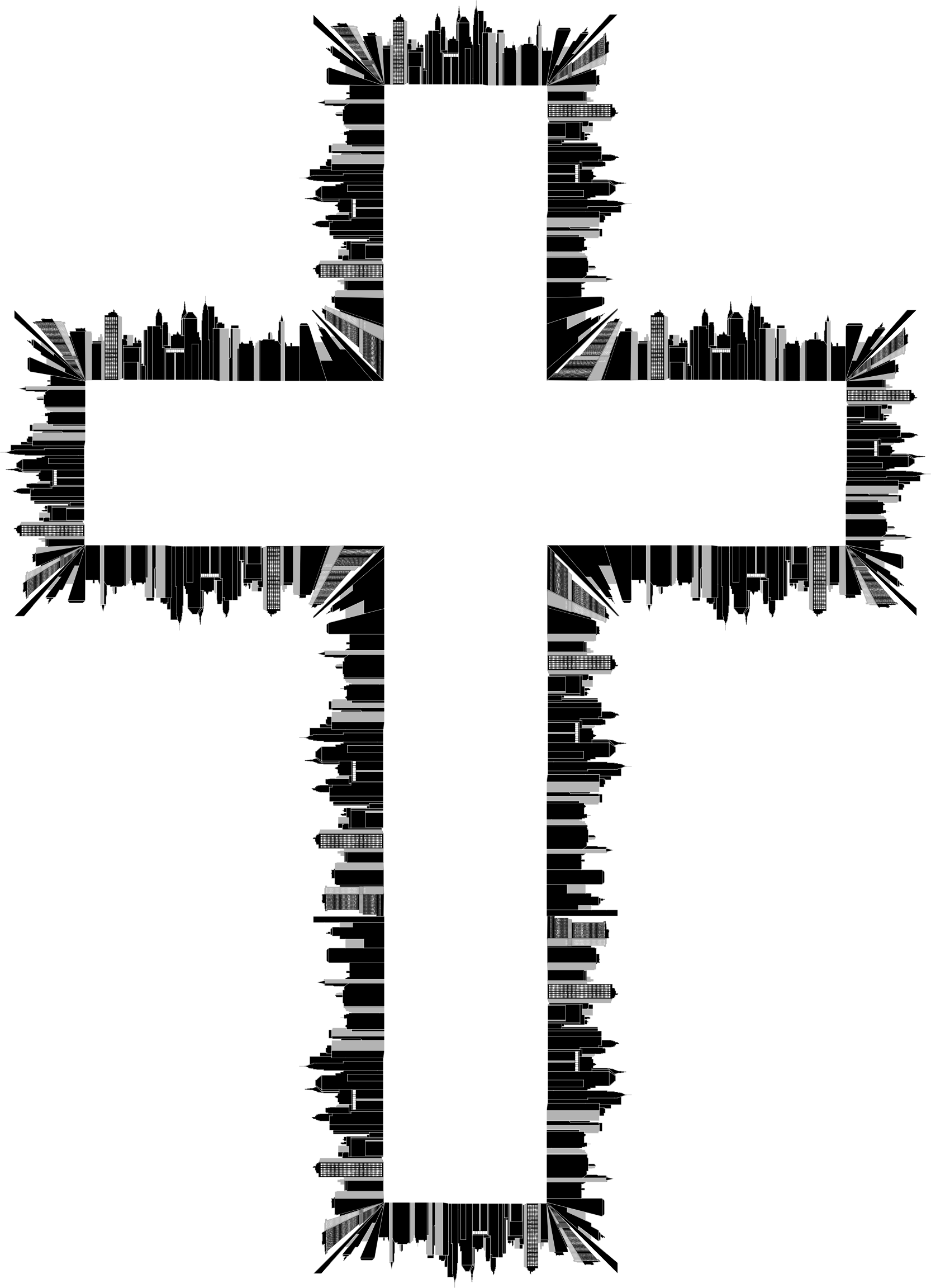 Black and white clipart cross free Clipart - Cross City free