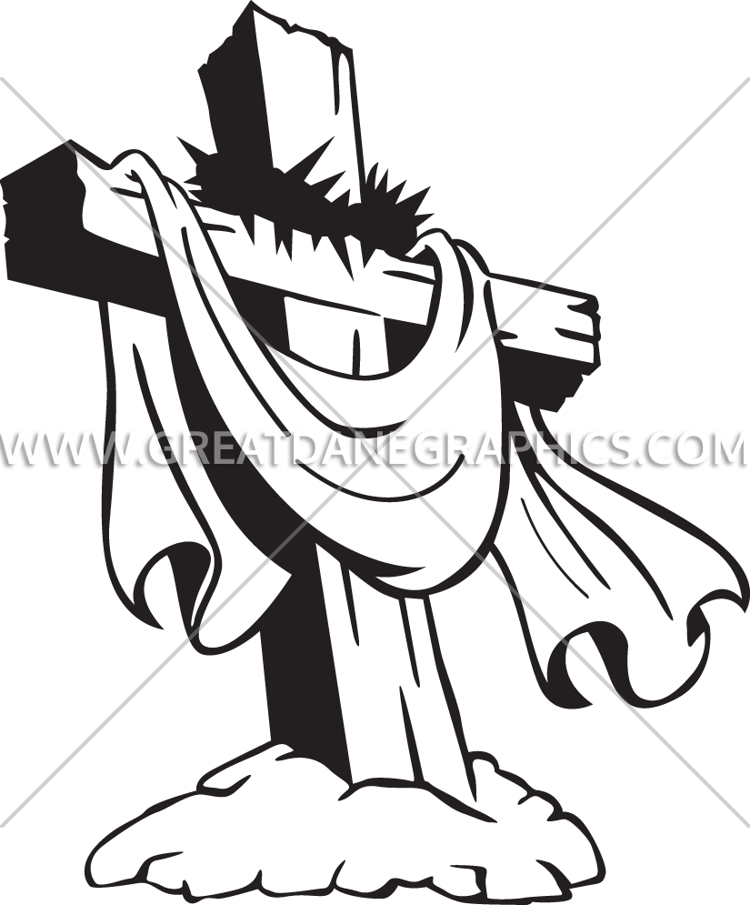 Clipart jesus on a cross graphic transparent library Crown Of Thorns Drawing at GetDrawings.com | Free for personal use ... graphic transparent library