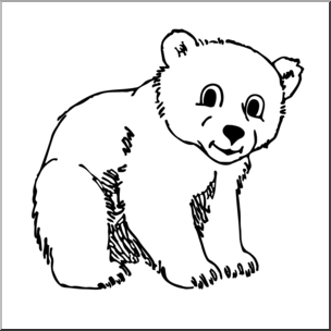 Black and white clipart cub transparent download Clipart black and white cub » Clipart Portal transparent download
