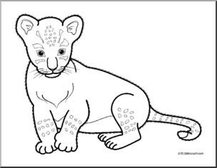 Black and white clipart cub clip library library Cub clipart black and white 2 » Clipart Station clip library library