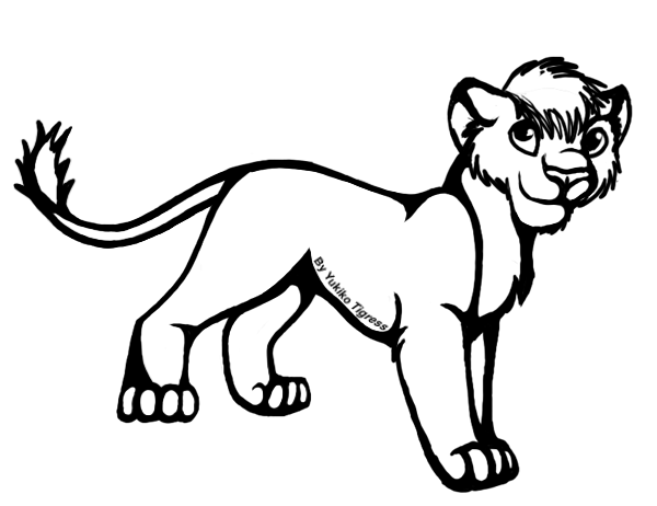 Black and white clipart cub banner library library Lion Cub Clipart | Free download best Lion Cub Clipart on ClipArtMag.com banner library library