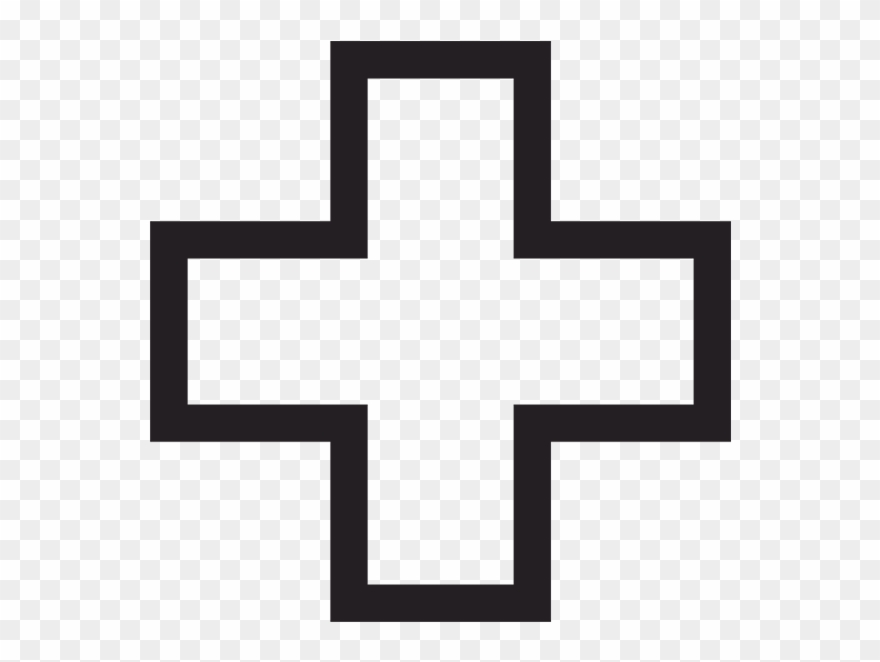 Medical - Hospital Symbol Black And White Clipart (#268449) - PinClipart clip art free
