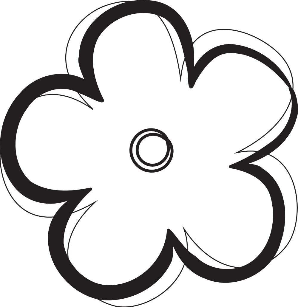 Images For > Black And White Flower Logo - Cliparts.co freeuse stock