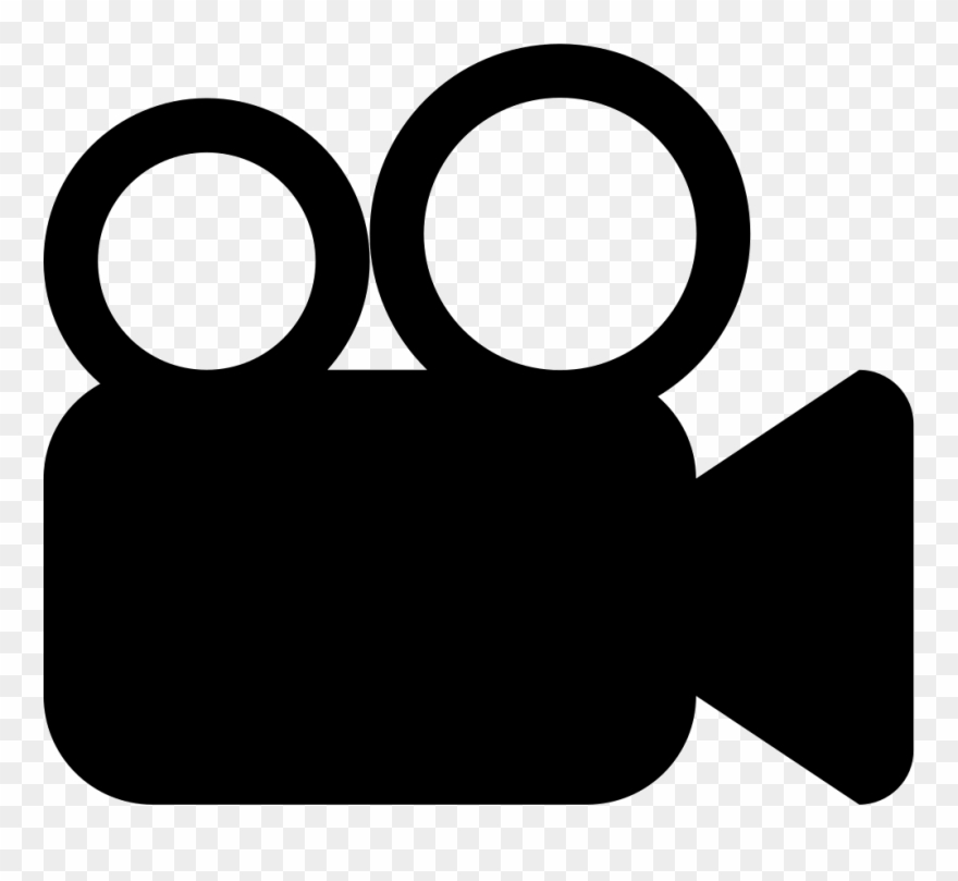 Video camera clipart black and white