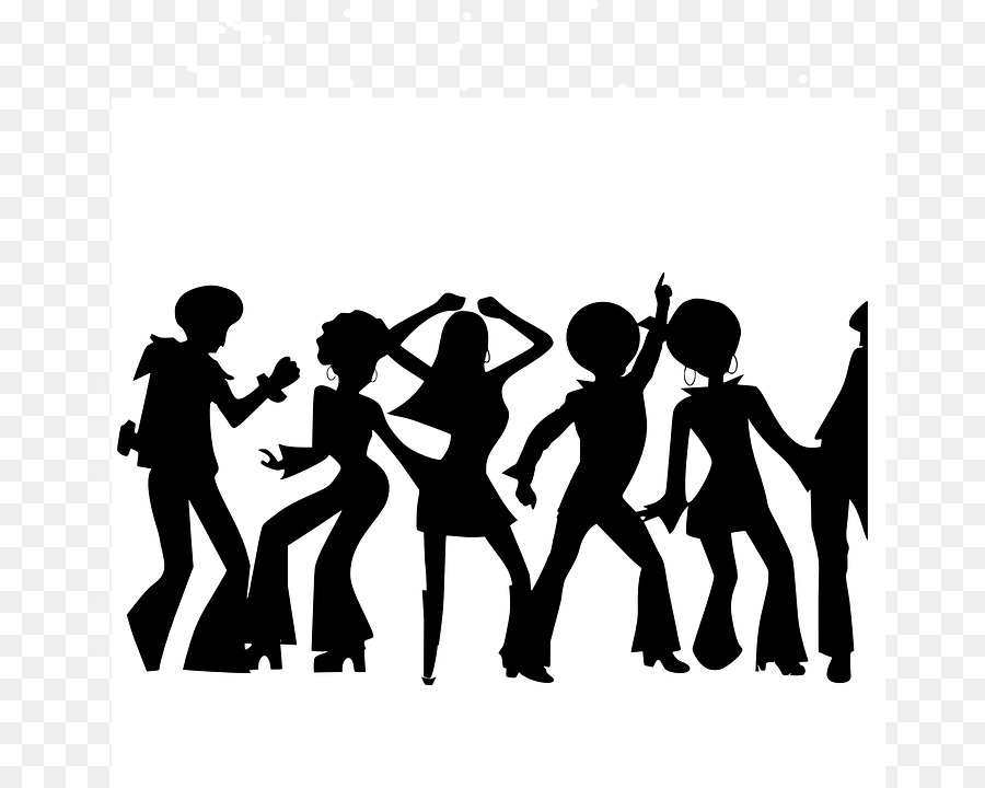 Black and white clipart dancing through the decades banner free stock Dance Party clipart - Dance, Communication, transparent clip art banner free stock