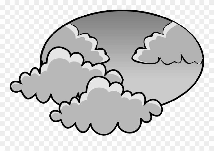 Gloomy clipart picture freeuse Gloomy Clipart Black And White - Cloudy Day Clip Art - Png Download ... picture freeuse