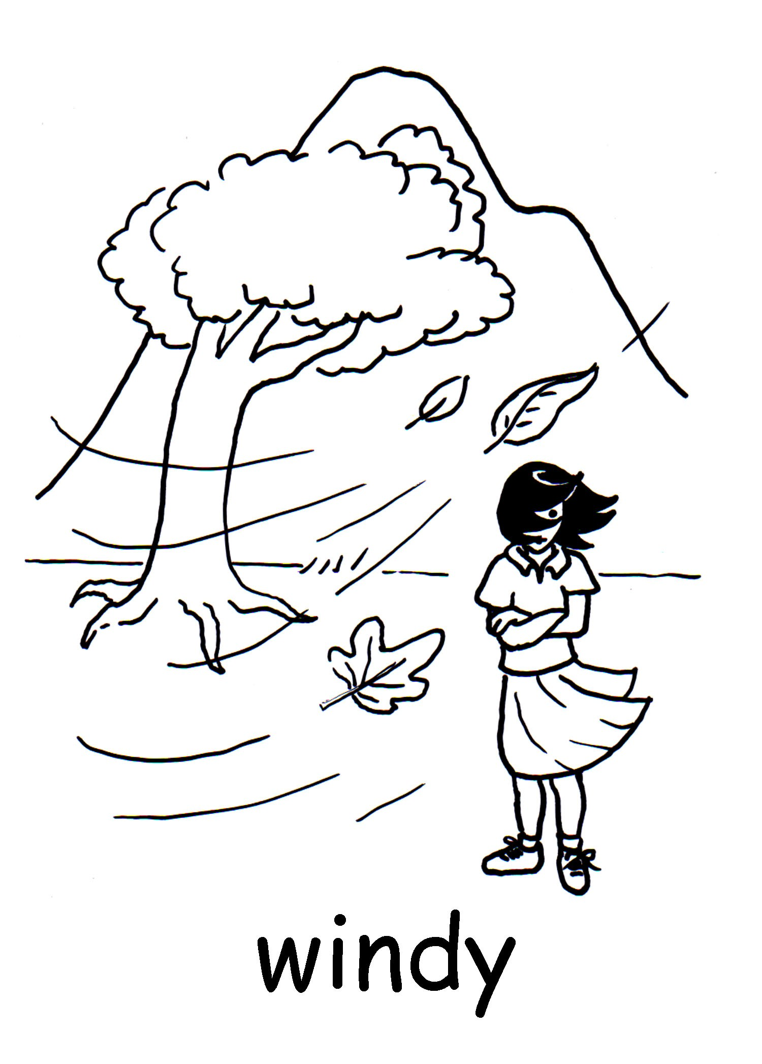 Black and white clipart day jpg free Windy day black and white clipart 7 » Clipart Portal jpg free
