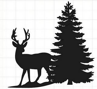 Black and white clipart deer by trees png free library Deer Silhouette with tree   Silhouette projects   Deer silhouette ... png free library