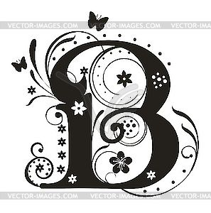 Black and white clipart design letter b free library Black and white clipart design letter b - ClipartFest free library