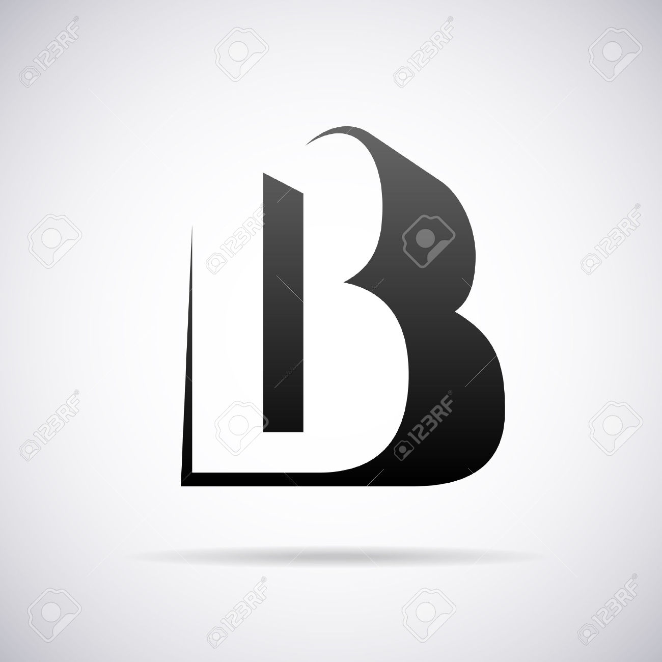 Black and white clipart design letter b clip art black and white stock 8,887 Letter B Stock Illustrations, Cliparts And Royalty Free ... clip art black and white stock