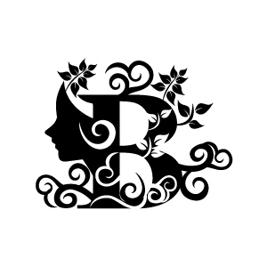 Black and white clipart design letter b banner free library Clipart images of flwers and letters black and white - ClipartFest banner free library