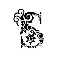 Black and white clipart design letter b clip black and white Graphic Design of Flower Clipart - White Alphabet B with Black ... clip black and white