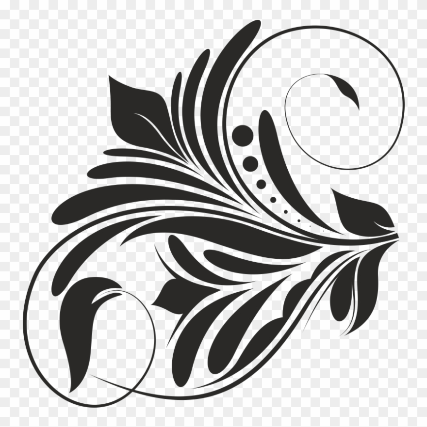 Vector design clipart black and white picture royalty free library Vector Swirl Designs - Design Black & White Png Clipart (#1740428 ... picture royalty free library