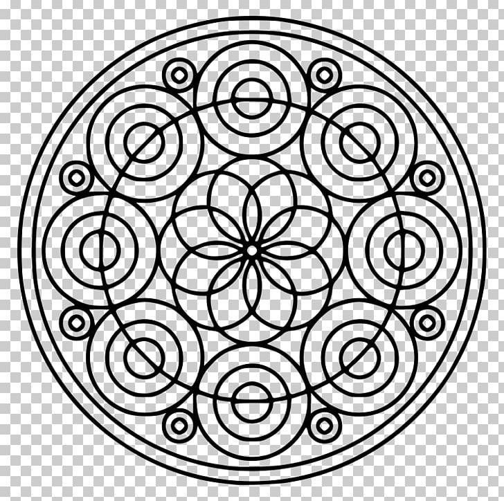 Black and white clipart different shaped kids in circle image freeuse Mandala Coloring Book Circle Shape PNG, Clipart, Area, Black And ... image freeuse
