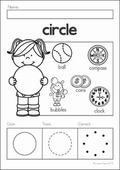 Black and white clipart different shaped kids in circle jpg black and white 78 Best Printable shapes images in 2017 | Preschool math, Preschool ... jpg black and white