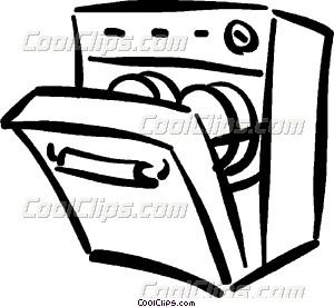 Dish washer clipart