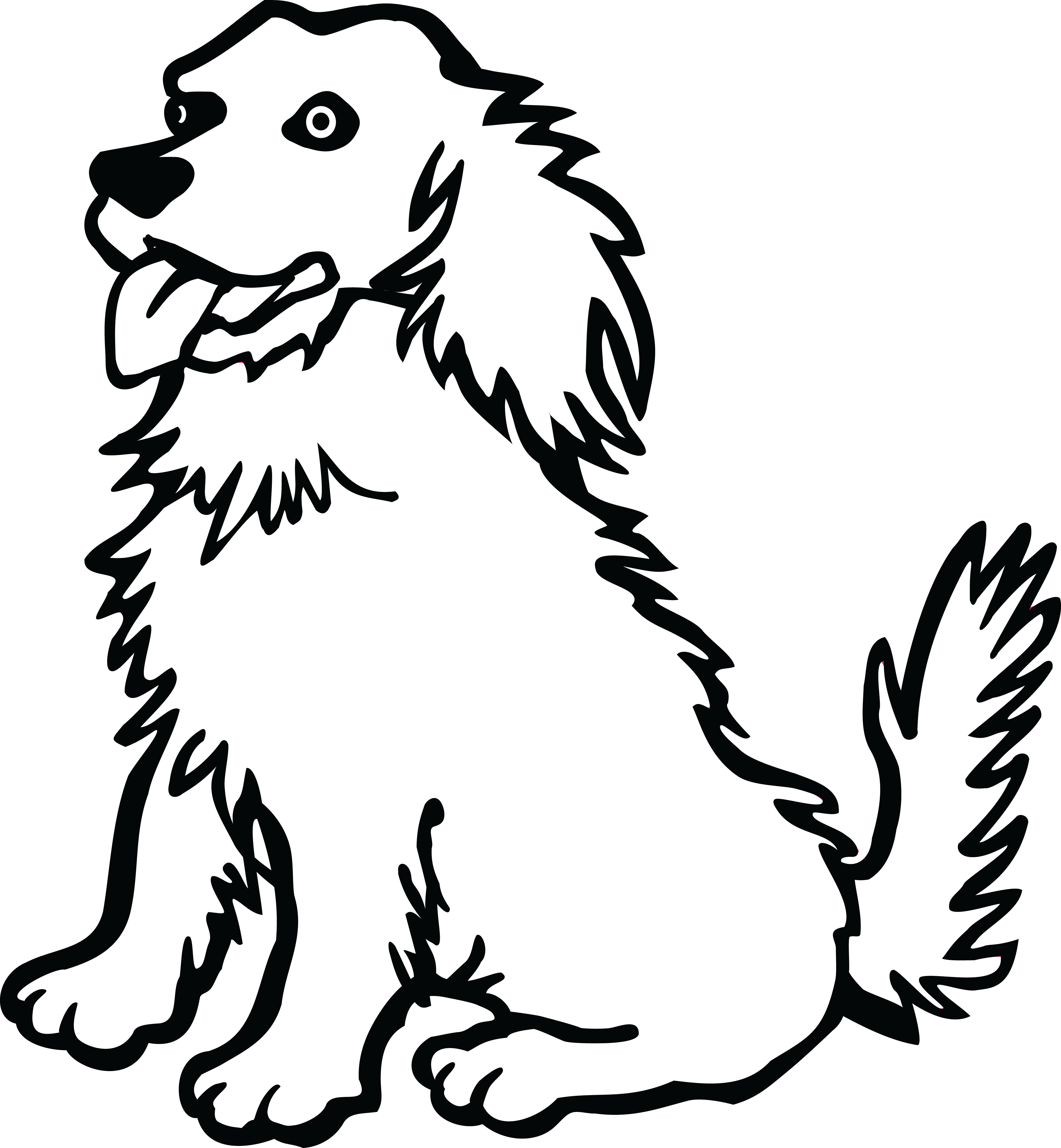 Dog clipart black and white transparent stock Free Black And White PNG Of Dogs Transparent Black And White Of Dogs ... stock