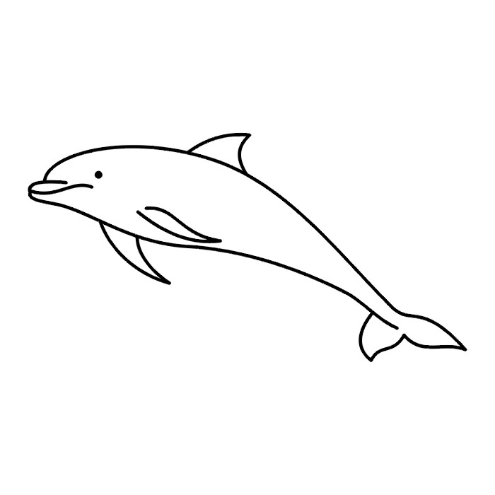 Free Black And White Dolphin Pictures, Download Free Clip Art, Free ... vector freeuse stock