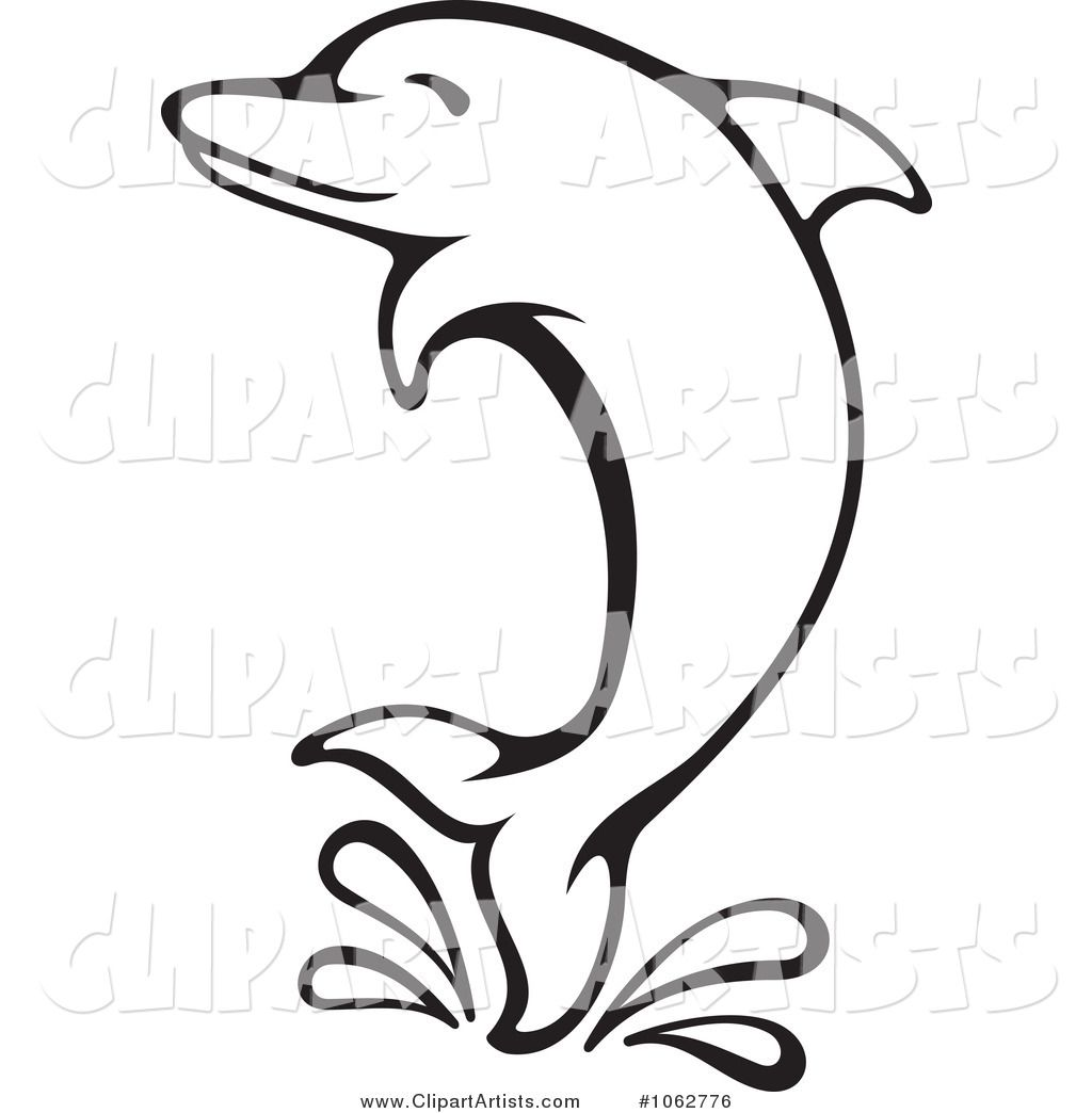 Dolphin black and white clipart clipart free Dolphin Clip Art Black and White | Larger Preview: Vector Dolphin ... clipart free