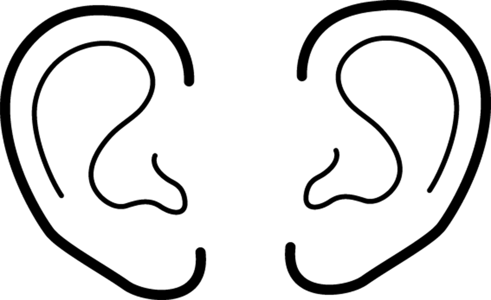 Black and white clipart ear graphic download Ear Collection Of Ears Clipart Black And White For Kids High ... graphic download