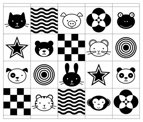 January clipart black and white nursery vector royalty free download Colorful fabrics digitally printed by Spoonflower - Black & White ... vector royalty free download