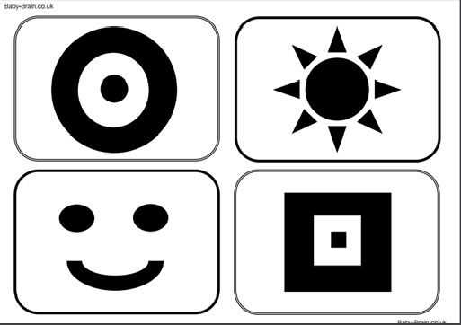 Black and white clipart face for infant stimulation vector stock Download & print for free: High contrast images, newborn & baby ... vector stock