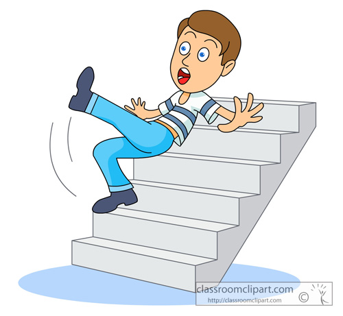 Black and white clipart falling down stairs jpg library download Royalty Free Clip Art Image: Black And White Cartoon Of A Woma - 350 ... jpg library download