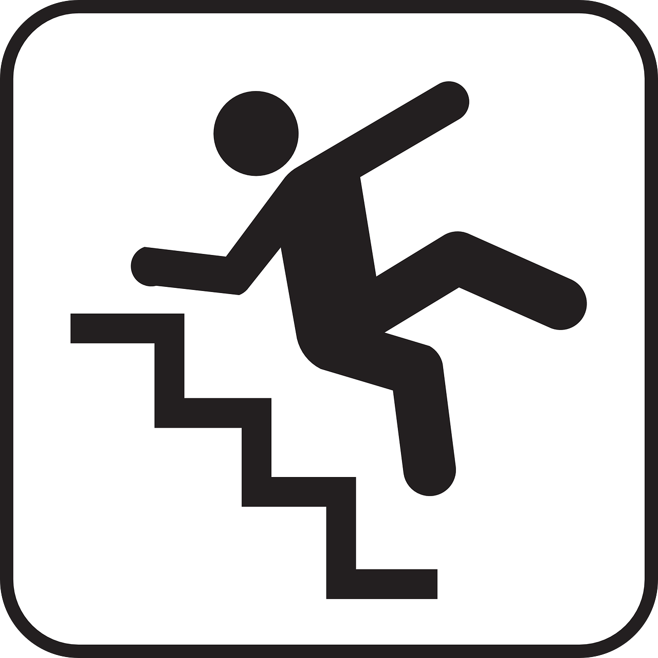 Black and white clipart falling down stairs clip art freeuse library Falling,tripping,down,stairs,staircase - free photo from needpix.com clip art freeuse library