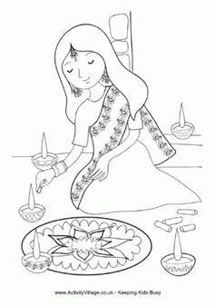 Black and white clipart festival image black and white stock Image result for black and white clip art of diwali festival | Earth ... image black and white stock
