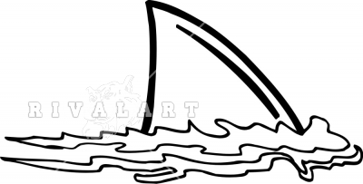 Shark fin clipart black and white