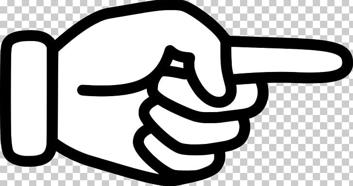 Finger pointing clipart jpg library Index Finger Pointing Hand Digit PNG, Clipart, Area, Black And White ... jpg library