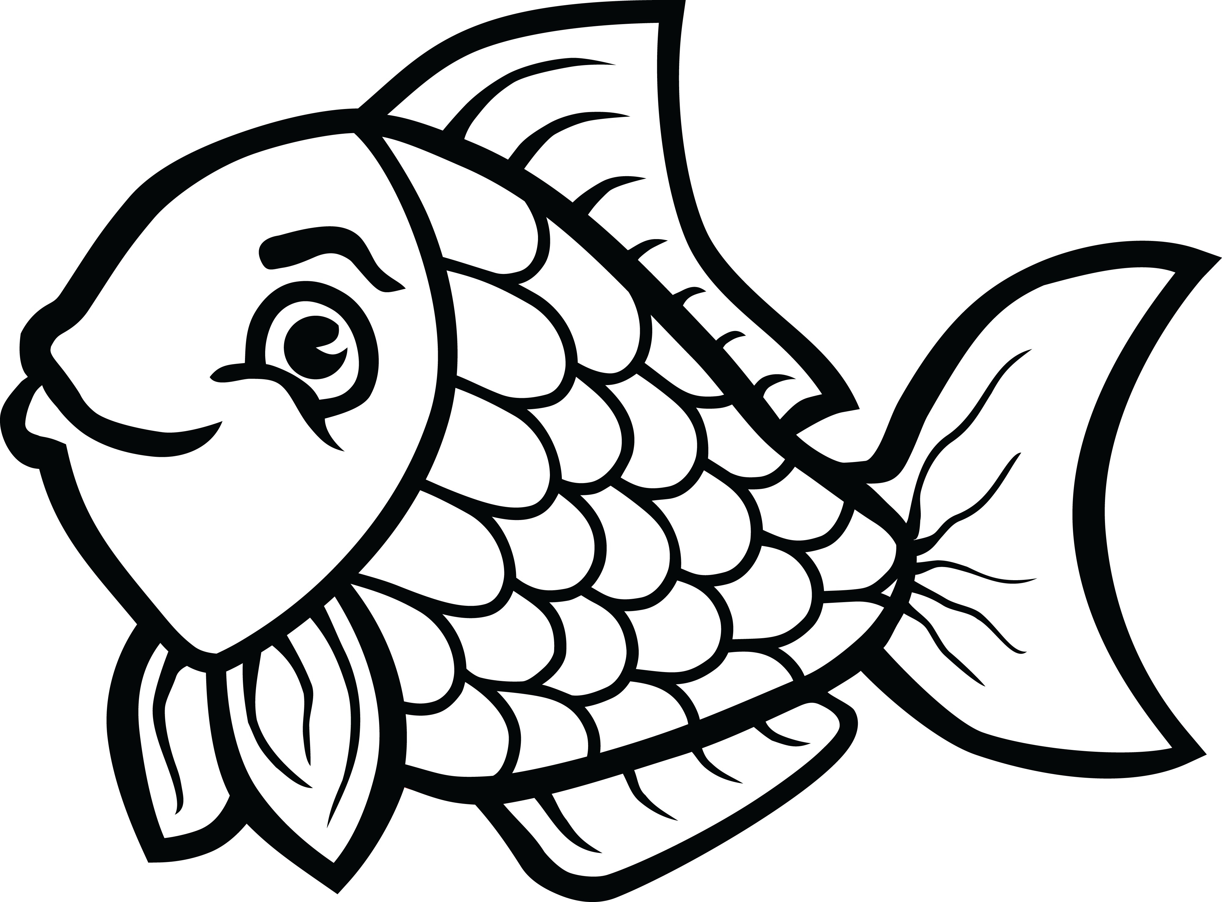 Fish tail clipart black and white clipart free stock 28+ Collection of Fish Clipart Black And White Free | High quality ... clipart free stock