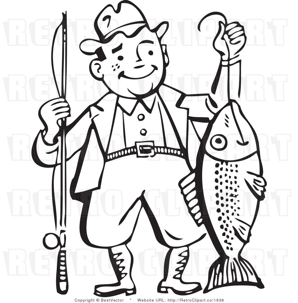 Black and white clipart fisherman freeuse library Clipart black and white fisherman » Clipart Portal freeuse library