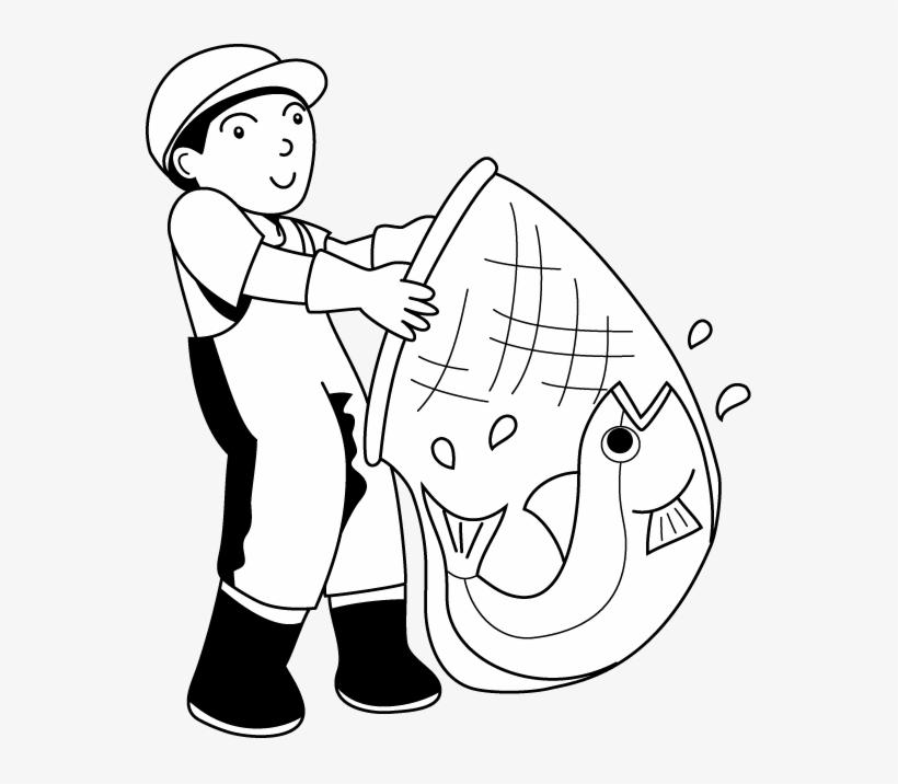 Black and white clipart fisherman clip art royalty free Fish Net Clipart Fisherman - Fisherman Clipart Black And White ... clip art royalty free