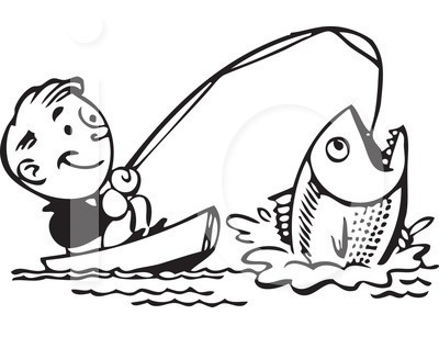 Fishing clipart black and white graphic download Fishing Clip Art Black And White   Clipart Panda - Free Clipart Images graphic download