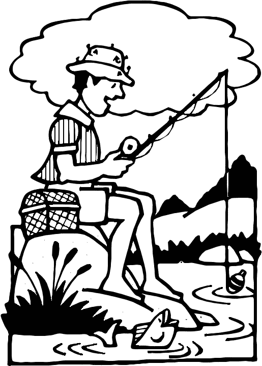 Black and white clipart fisherman svg transparent Free Black Fishing Cliparts, Download Free Clip Art, Free Clip Art ... svg transparent
