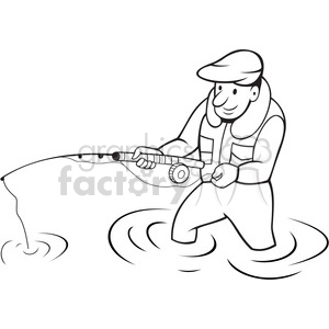 Black and white fisherman clipart no watermark clipart freeuse download cartoon fisherman in black and white clipart. Royalty-free GIF, JPG ... clipart freeuse download